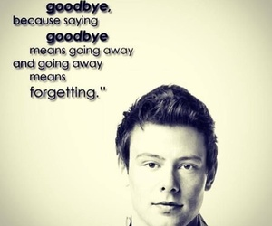 glee, cory monteith, and rip image