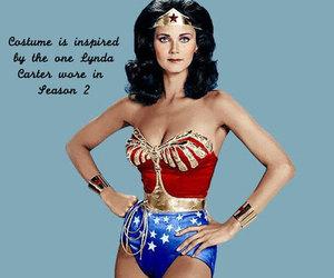 wonder woman costume, halloween costume, and Lynda Carter image