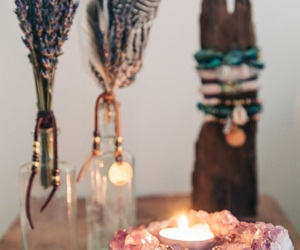 candle, crystal, and decor image