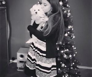 christmas, girl, and dog image