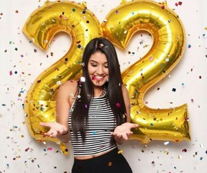 balloons, birthday, and girl image