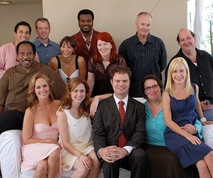 cast, couple, and dwight schrute image