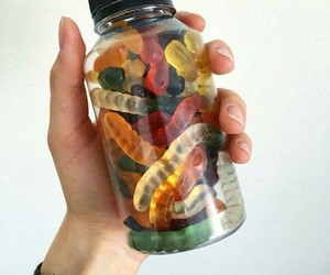 food, sweet, and worms image