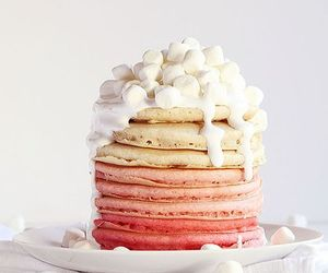 pancakes, food, and marshmallow image