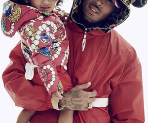 artist, daughter, and chris brown image