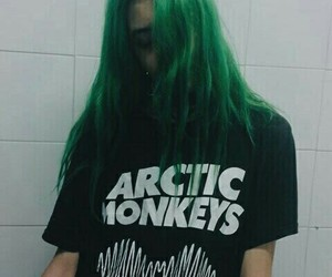 arctic monkeys, green, and grunge image