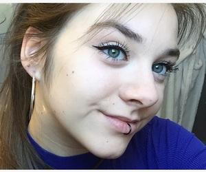 blueeyes, earrings, and eyebrows image