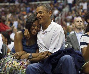 barack obama, couple, and michelle obama image