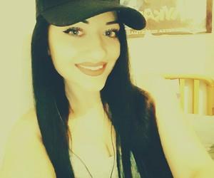 brunette, girl, and smile image