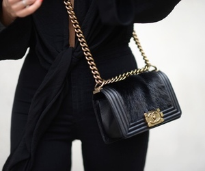 fashion, chanel, and black image