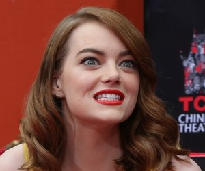 actress, emma stone, and red lips image