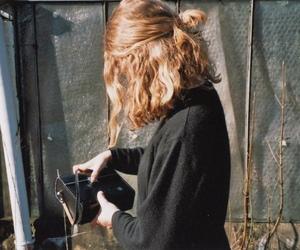 hair, girl, and black image