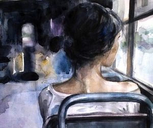 art, bus, and painting image