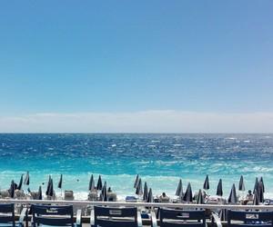 beach, france, and sea image