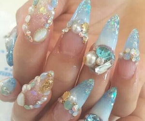 nails, kawaii, and mermaid image