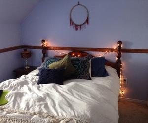 bedroom, dream catcher, and fairy lights image