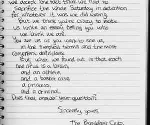 Letter and The Breakfast Club image