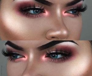 makeup, highlight, and pink image