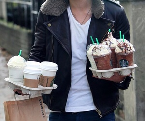 starbucks, one direction, and liam payne image