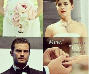 married, christian grey, and fifty shades darker image