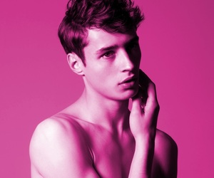 boy, model, and pink image