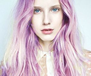 purple, purple hair, and hair color image