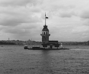 black, istanbul, and the maiden's tower image