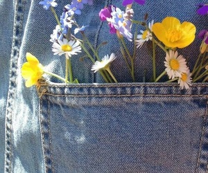 flowers, aesthetic, and jeans image