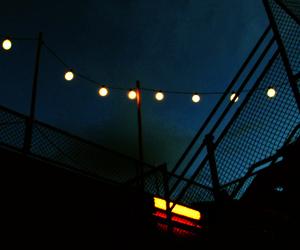 light, night, and vintage image