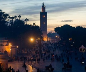 morocco, travel, and marackech image