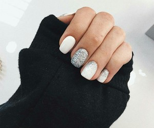 beauty, nails, and glitter image
