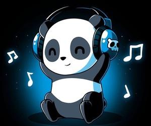 music and panda image