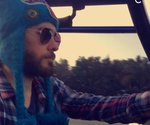 30 seconds to mars, hat, and snapchat image