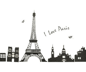 art, eiffel tower, and europe image