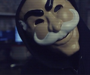 anonymous, robot, and mr robot image