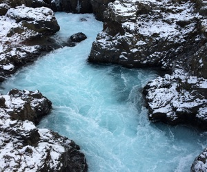 blue, iceland, and river image