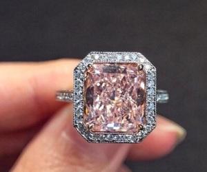 ring, diamond, and pink image