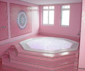 pink, bathroom, and aesthetic image