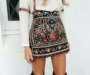 chic, flowers, and trend image