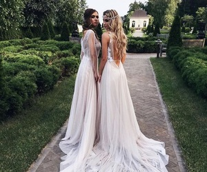dress, girl, and wedding image