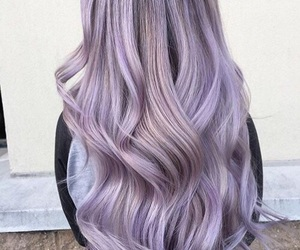 gray, hairstyle, and purple image