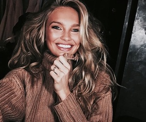 model, beauty, and smile image