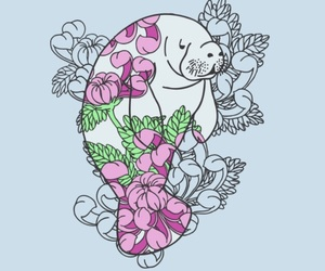 animals, floral, and flowers image