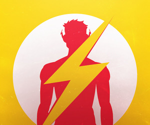 flash, hero, and young justice image