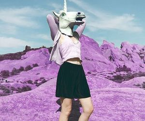 unicorn, grunge, and pink image