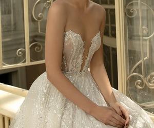 blanco, boda, and vestido image