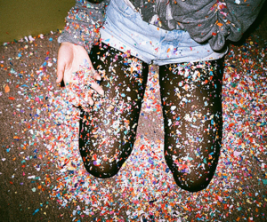 party, confetti, and fun image
