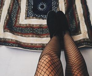 aesthetic, black, and fishnet image