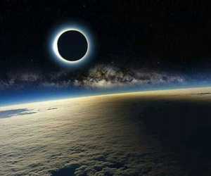 eclipse, moon, and space image