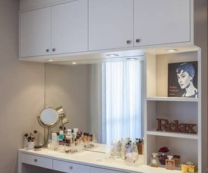 apartment, architecture, and dressing table image